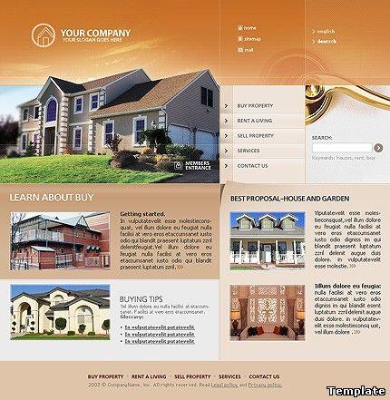 Шаблон сайта недвижимость